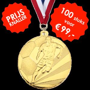 AANBIEDING - Voetbalmedaille D112a - 100 STUKS VOOR € 99,-