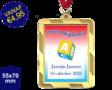 Zwemdiploma A  - Supermedaille Rechthoekig Goud