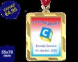 Zwemdiploma C  - Supermedaille Rechthoekig  Goud