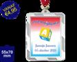Zwemdiploma A  - Supermedaille Rechthoekig Zilver