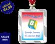 Zwemdiploma B  - Supermedaille Rechthoekig Zilver