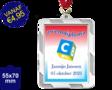 Zwemdiploma C  - Supermedaille Rechthoekig Zilver