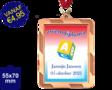 Zwemdiploma A  - Supermedaille Rechthoekig Brons