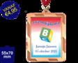 Zwemdiploma B  - Supermedaille Rechthoekig Brons