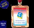 Zwemdiploma C  - Supermedaille Rechthoekig Brons