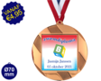 Zwemdiploma B  - Supermedaille Rond Brons