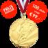 AANBIEDING - Voetbalmedaille D112a - 100 STUKS VOOR € 99,-_